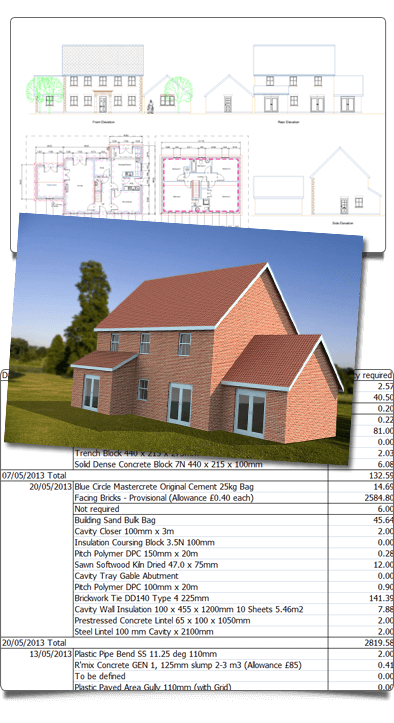 3D Visual Estimating - Architect quality plans, designs & automatic estimate