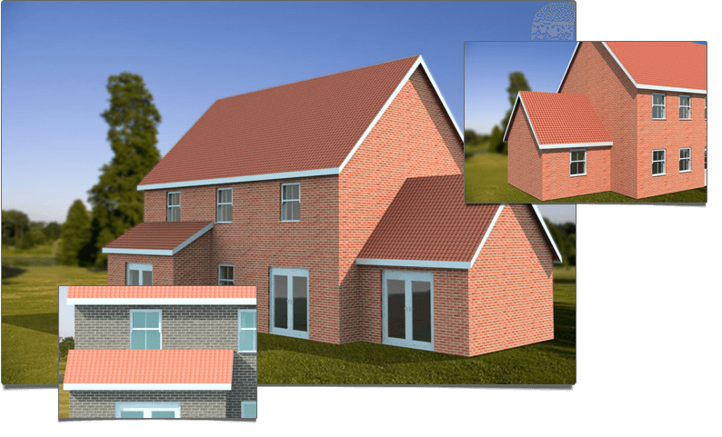 PlansXpress Building plan drawing tool one-click-to-3d-photorealistic