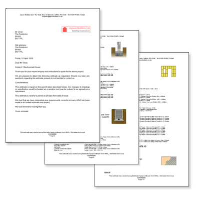 EstimatorXpress Automatic professional quotations