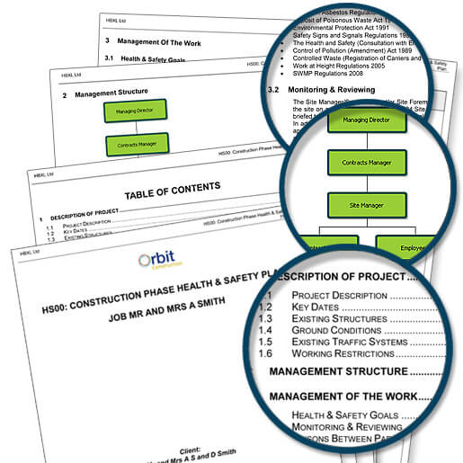 Construction Phase Health and Safety Plan template for builders and developers