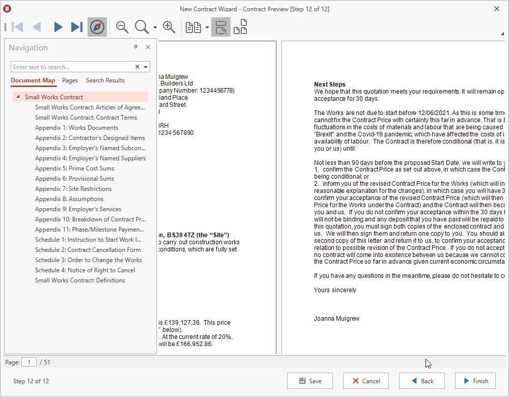 ContractsXpert 2021 Contracts Preview