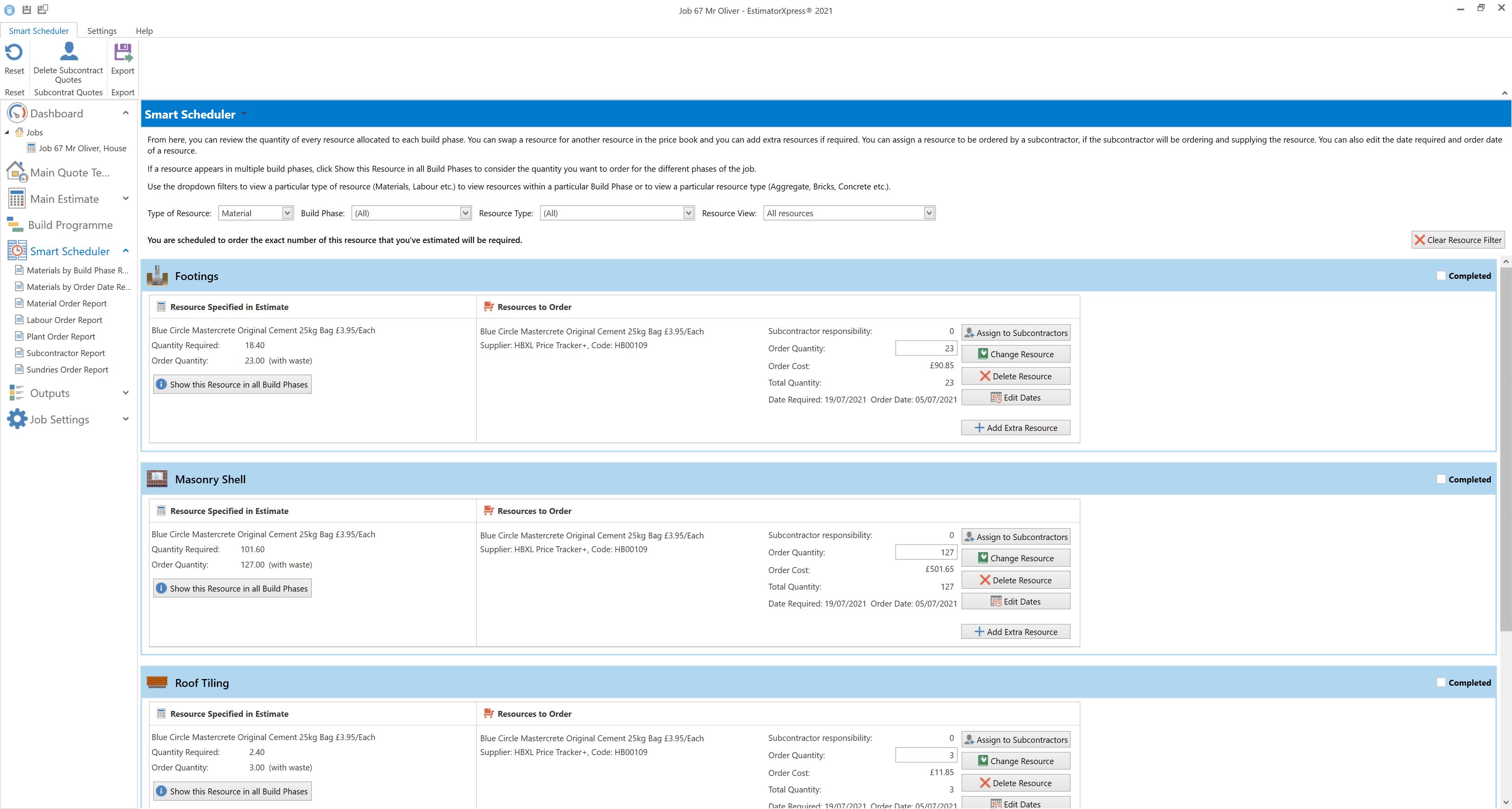 Smart Scheduler screen
