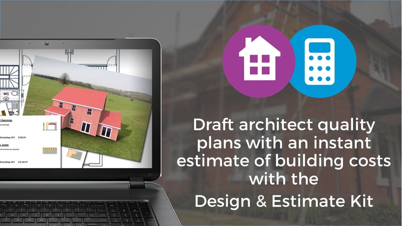 Draft architect quality plans with an instant estimate of building costs