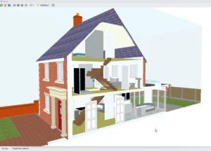 PlansXpress 3D section through